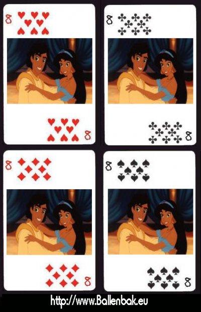 Maak je eigen Alladin en Jasmine kaartspellen door de kaarten van onze site uit te printen en te knippen. Zo kun je allerhande kaartspellen verzamelen om gezellig te kaarten met familie of vrienden.