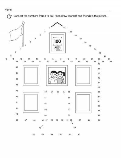 verbind de puntjes met elkaar en los deze teken puzzel op