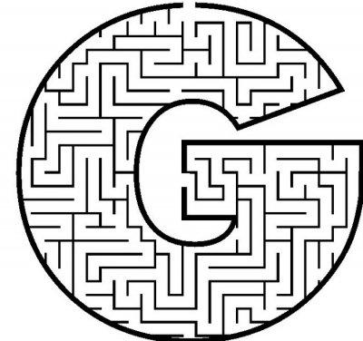 Letter G doolhof