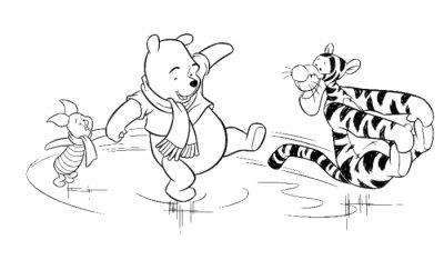 Walt disney Winney the Pooh kleurplaat voor kinderen