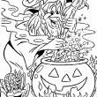 Halloween Kleurplaat 3