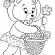 beer met bloemen kleurplaat