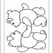 beren kleurplaat