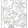 Dora kleurplaat 12