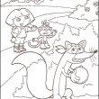 Dora kleurplaat 19
