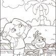 Dora kleurplaat 24
