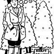kerstboomverkoper