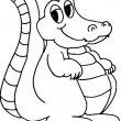 krokodil kleurplaat