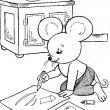 muis kleurplaat