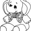 olifant kleurplaat
