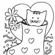 kat kleurplaat