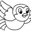 vogel kleurplaat